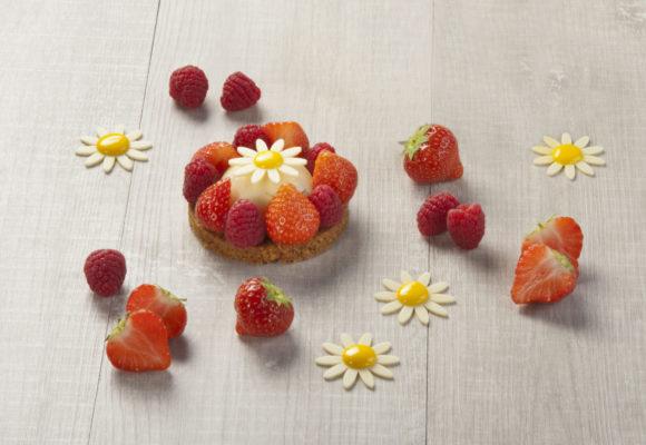 Sablé cheesecake aux fruits rouges