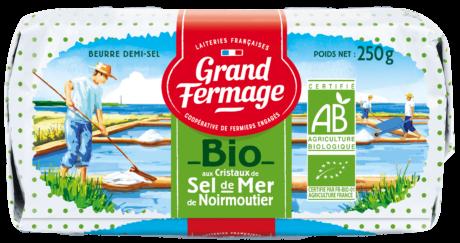 Organic Noirmoutier Sea Salt Butter 250g