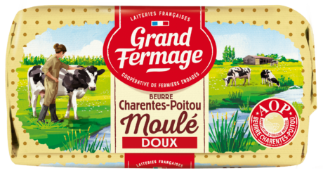 Beurre moulé doux Charentes-Poitou AOP