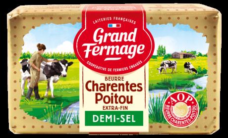 Beurre demi-sel Charentes-Poitou AOP