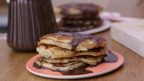 Pancakes pommes chocolat