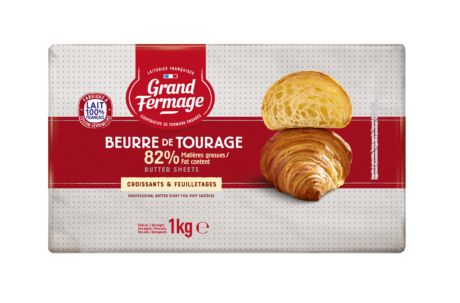 Unsalted butter sheet 82% fat 1kg