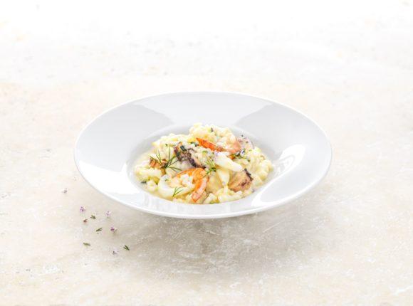 Creamy shellfish risotto