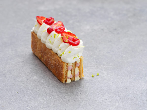 Soft fruit mille-feuille revisited