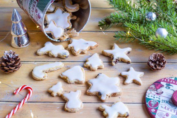 Gâteaux de Noël Galettes Anglaises – Bredele aux amandes et raisins secs